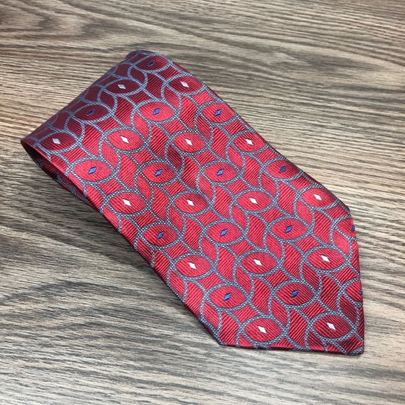 Jos. A. Bank Other - Jos A Bank Red w/ Blue & White Check Tie